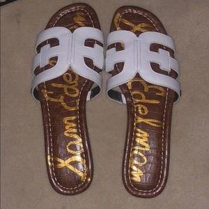 Sam Edelman white leather 7 1/2 sandals.🎊HP🎉